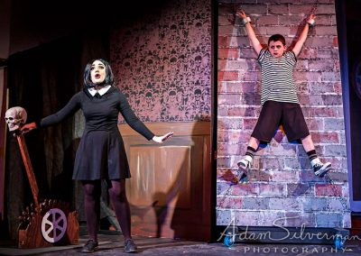 Wednesday and Pugsley in The Addams Family