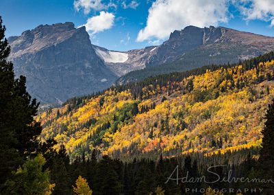 Colorado fall foliage and mountains