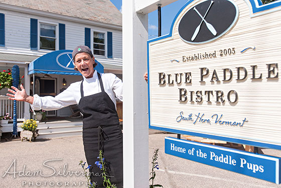 Chef Phoebe at the Blue Paddle
