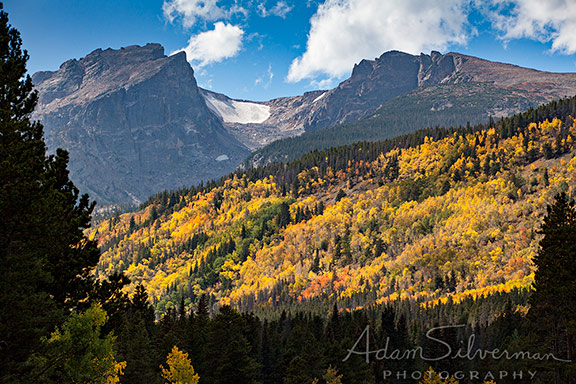 Mountains and fall foliage in Colorado