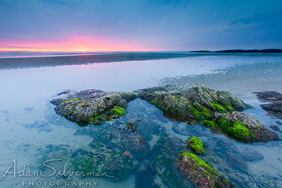 Sunrise over the beach in Ogunquit, Maine.