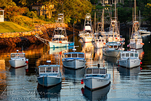 Boats in Perkins Cove, Ogunquit, Maine.