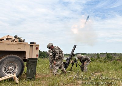 Firing a mortar at Fort Drum