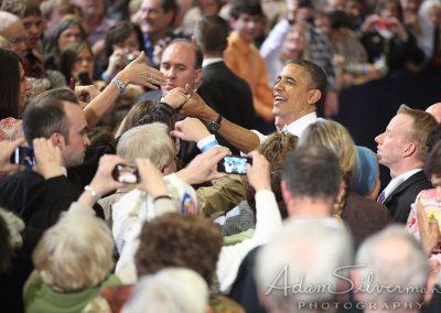 Obama shakes hands